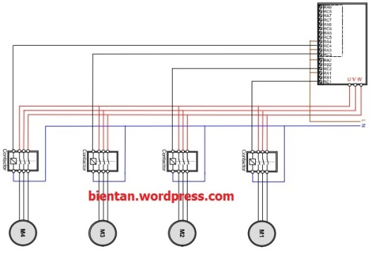 Sơ đồ dây biến tần điều khiển nhiều bơm chạy tuần tự