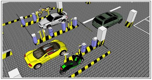 Mẫu mô hình bãi giữ xe thông minh