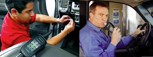 Đo nồng độ cồn trong máu của tài xế xe taxi