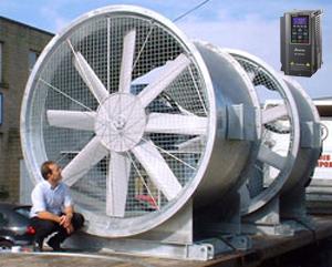 Lắp đặt biến tần cho quạt công nghiệp